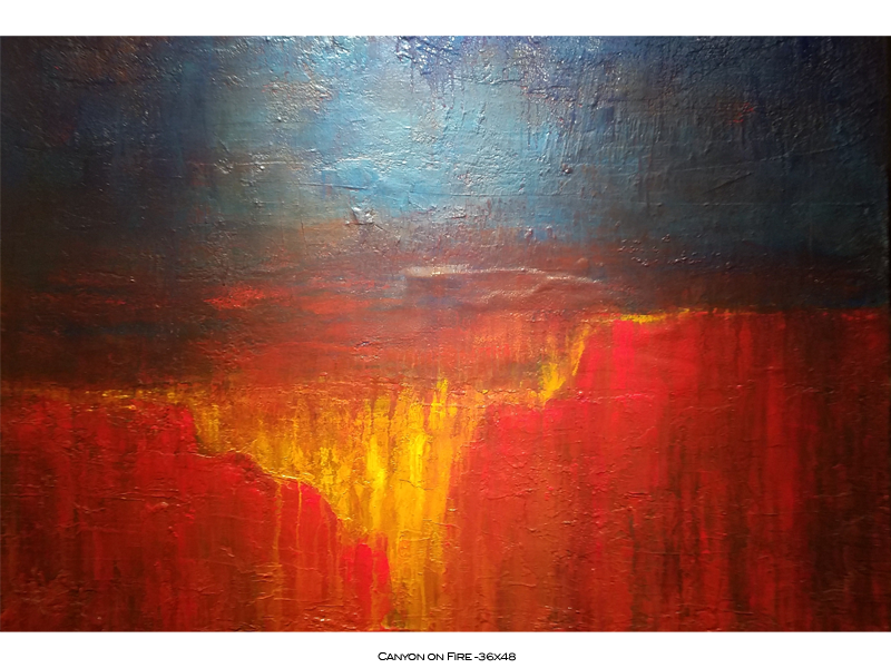 Canyon on Fire - 36x48