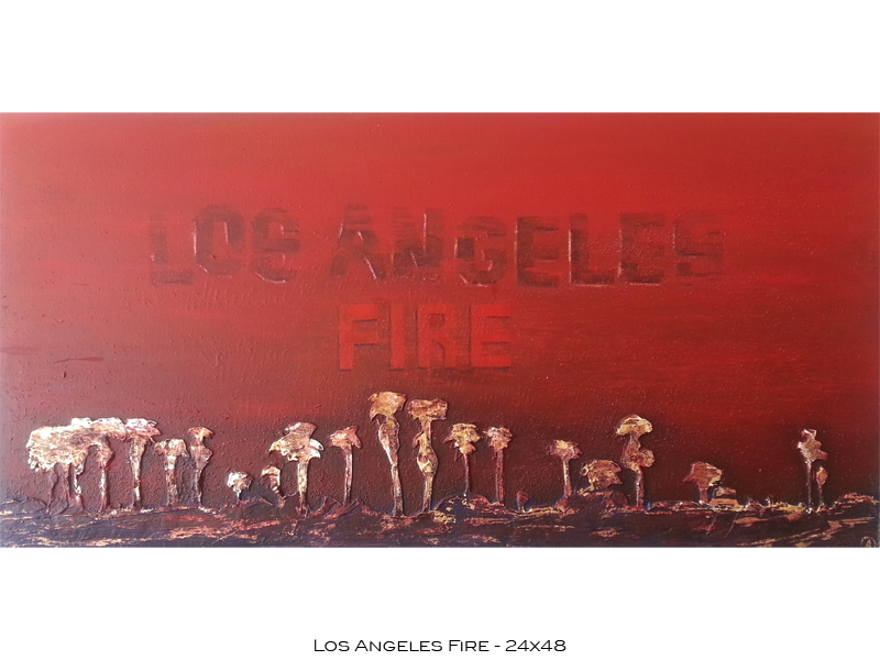 Californian Landscapes - Los Angeles Fire - 24x48