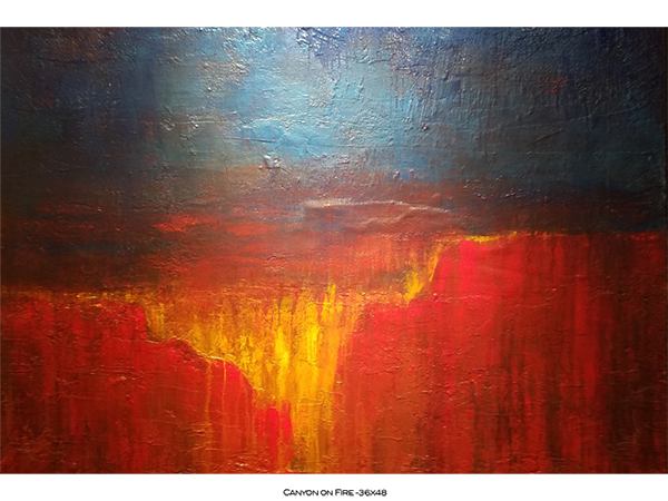 Canyon on Fire 36x48