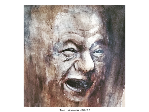 The Laugher - 30x22