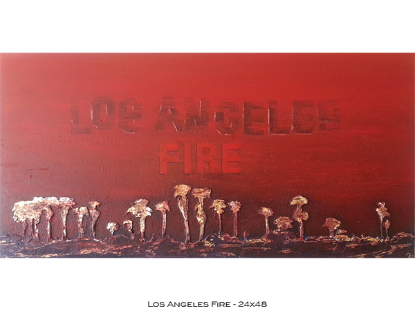Los Angeles Fire 24x48