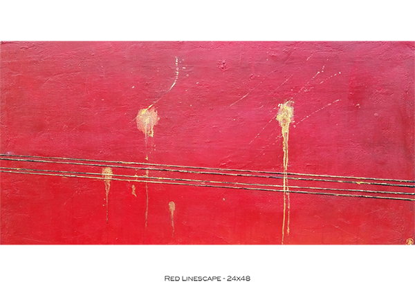 Red Linescape 24x48